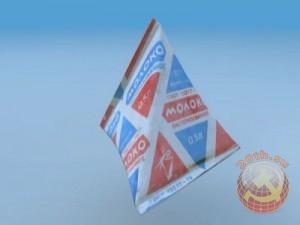 Бумажный пакет молока в СССР