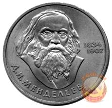 Советский рубль с Дмитрием Менделеевым
