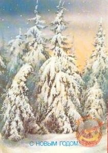 Новый год. Зимний лес. 1988 год