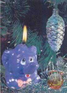 Новый год. Свечка гномик. 1990 год