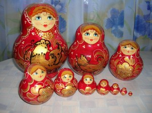 Матрешка из 10 куколок