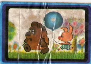 Винни Пух и Пятачок. Советский календарик с героями мультфильмов
