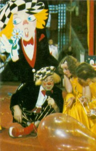 Календарики советский цирк. Клоун на сцене