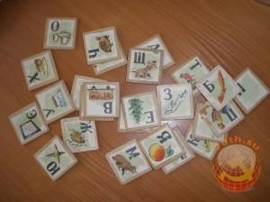 Детская деревянная азбука. СССР