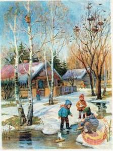 Дети и весенние кораблики в СССР
