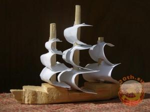 Кораблик большой, самодельный