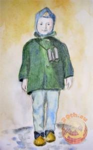 Советский мальчик с биноклем (рисунок автора)