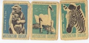Спичечные этикетки. Советский зоопарк