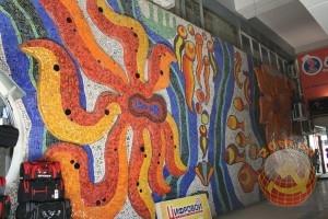 Советская мозаика в помещении