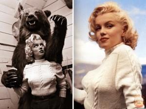 Мерлин Монро в вязаном свитере