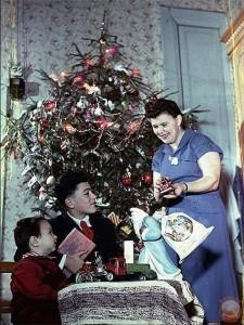 новый год в советской семье