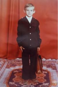 Фото мальчика 1-го сентября. Первый раз в первый класс. 70 годы 20 ст.