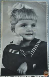 Фотопортрет девочки 50-е годы 20-го столетия.