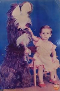 Студийное фото с игрушечной собакой 80-е годы