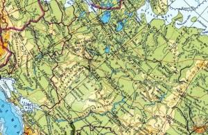 Карта СССР 1982