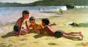 мальчишки на пляже