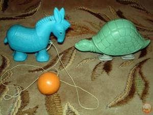 шагающий осел и черепаха