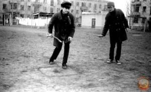 дворовая игра СССР Палки-банки
